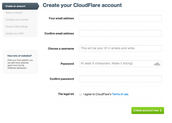 cloudfare crear cuenta