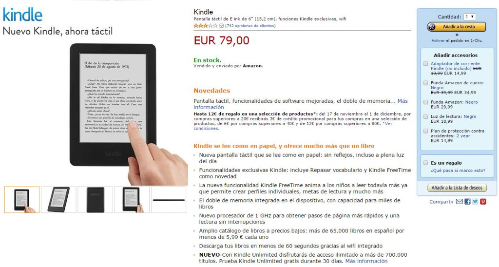 7 tendencias UI en eCommerce para 2015-kindle