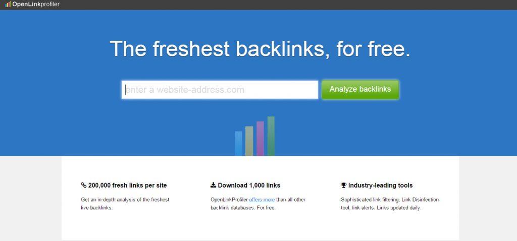 4 mejores herramientas gratuitas para comprobar backlinks openlinkprofiler