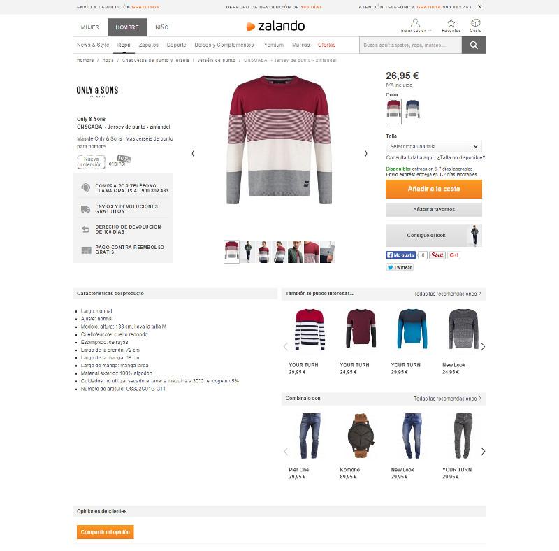 Como crear una ficha de producto perfecta para tu tienda online - zalando