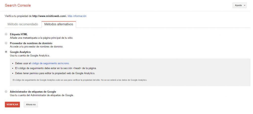 Google Search Console - Tutorial principiantes - Analytics