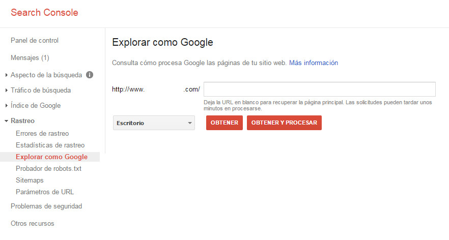 Google Search Console - Tutorial principiantes - Explorar como Google