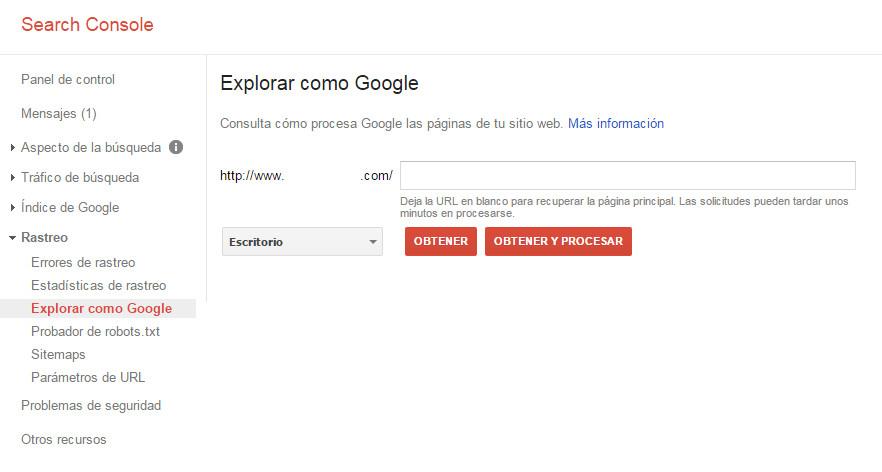 Google Search Console - Tutorial principiantes - Explorar como Google