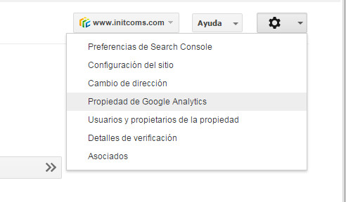 Google Search Console - Tutorial principiantes - Propiedad de Google Analytics