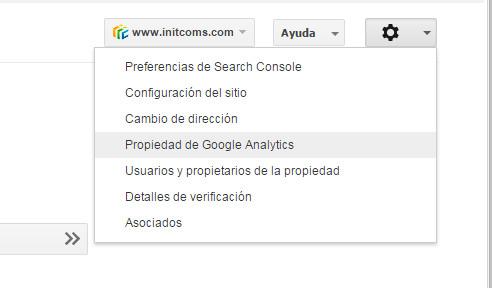 Google Search Console - Tutorial principiantes - Propiedad de Google Analytics