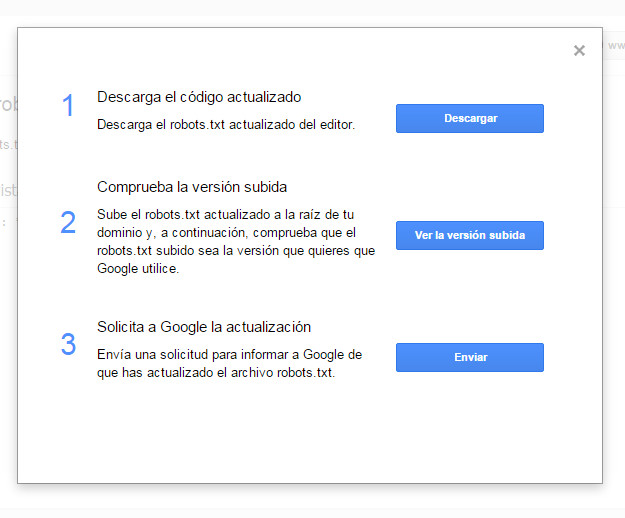 Google Search Console - Tutorial principiantes - Robots3