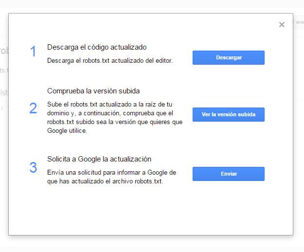 Google Search Console - Tutorial principiantes - Robots3