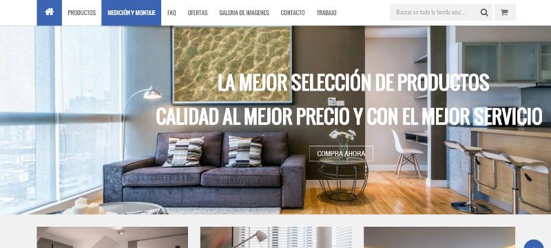 Tiendas online hechas con Prestashop - los estores