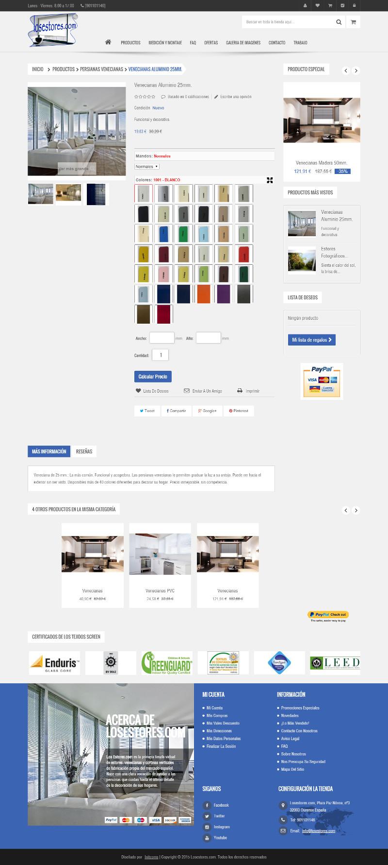 Tiendas online hechas con Prestashop - los estores2