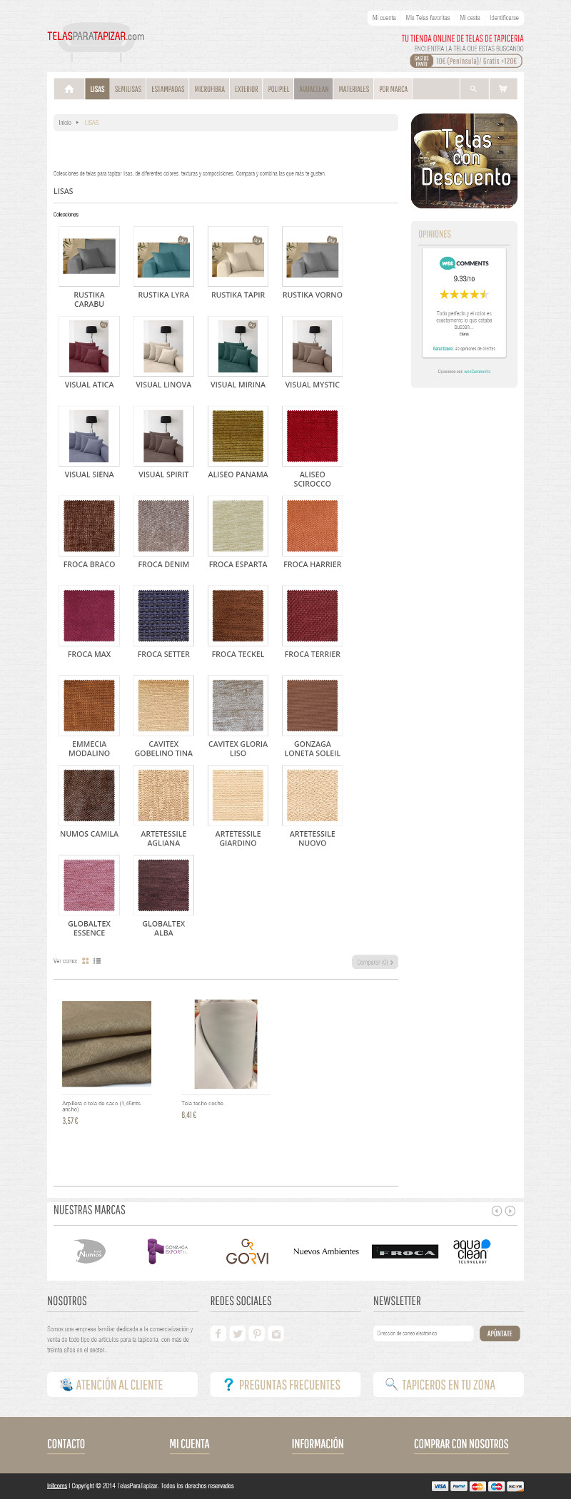 Tiendas online hechas con Prestashop - telas para tapizar2