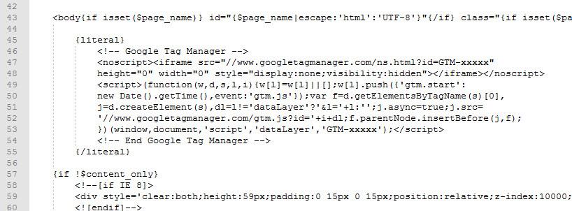 Google Tag Manager Contenedor