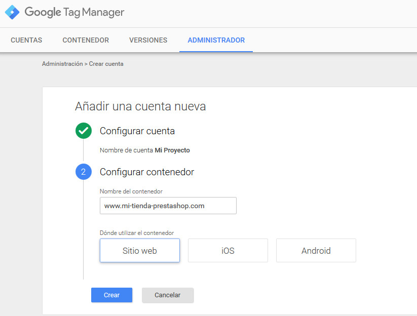Google Tag Manager Prestashop