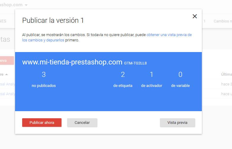 Google Tag Manager Prestashop