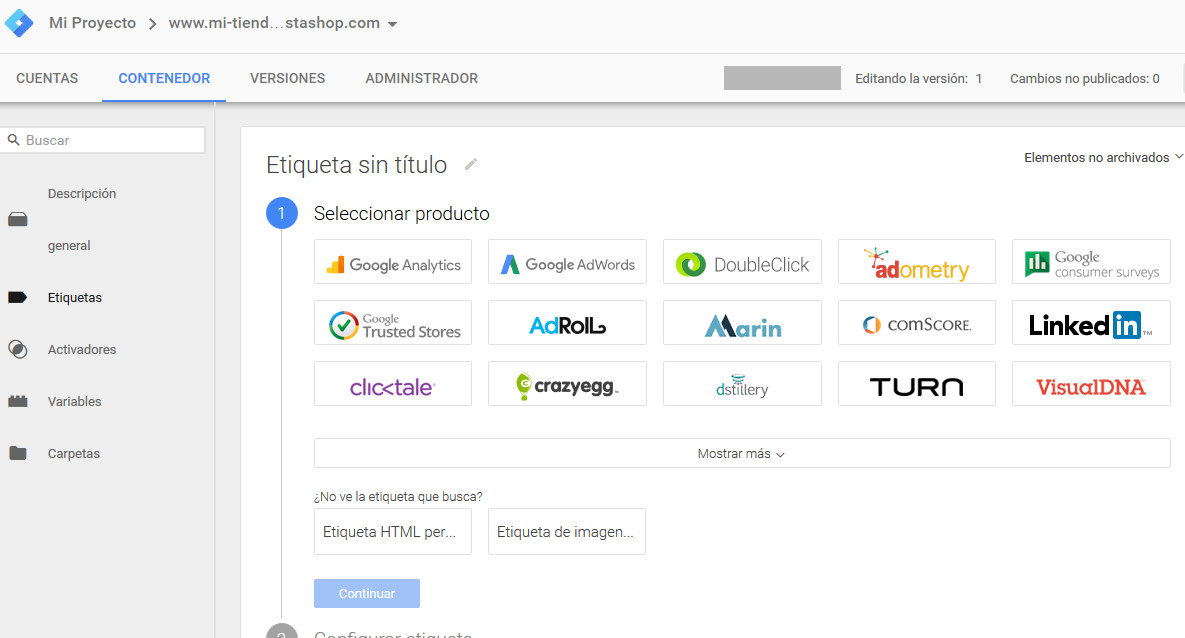 Google Tag Manager Prestashop Etiqueta Analytics