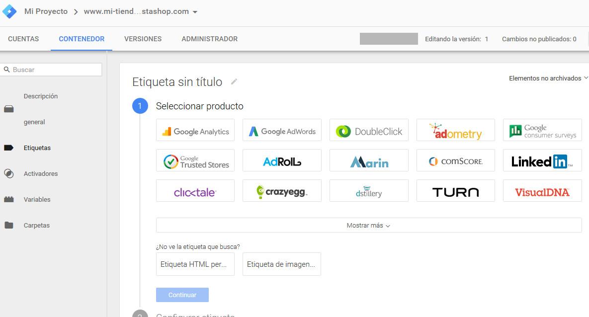Google Tag Manager Prestashop Etiqueta Analytics
