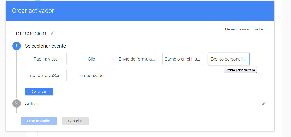 Google Tag Manager Prestashop Evento Personalizado