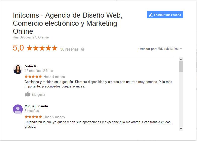 buscar reseñas en google my business