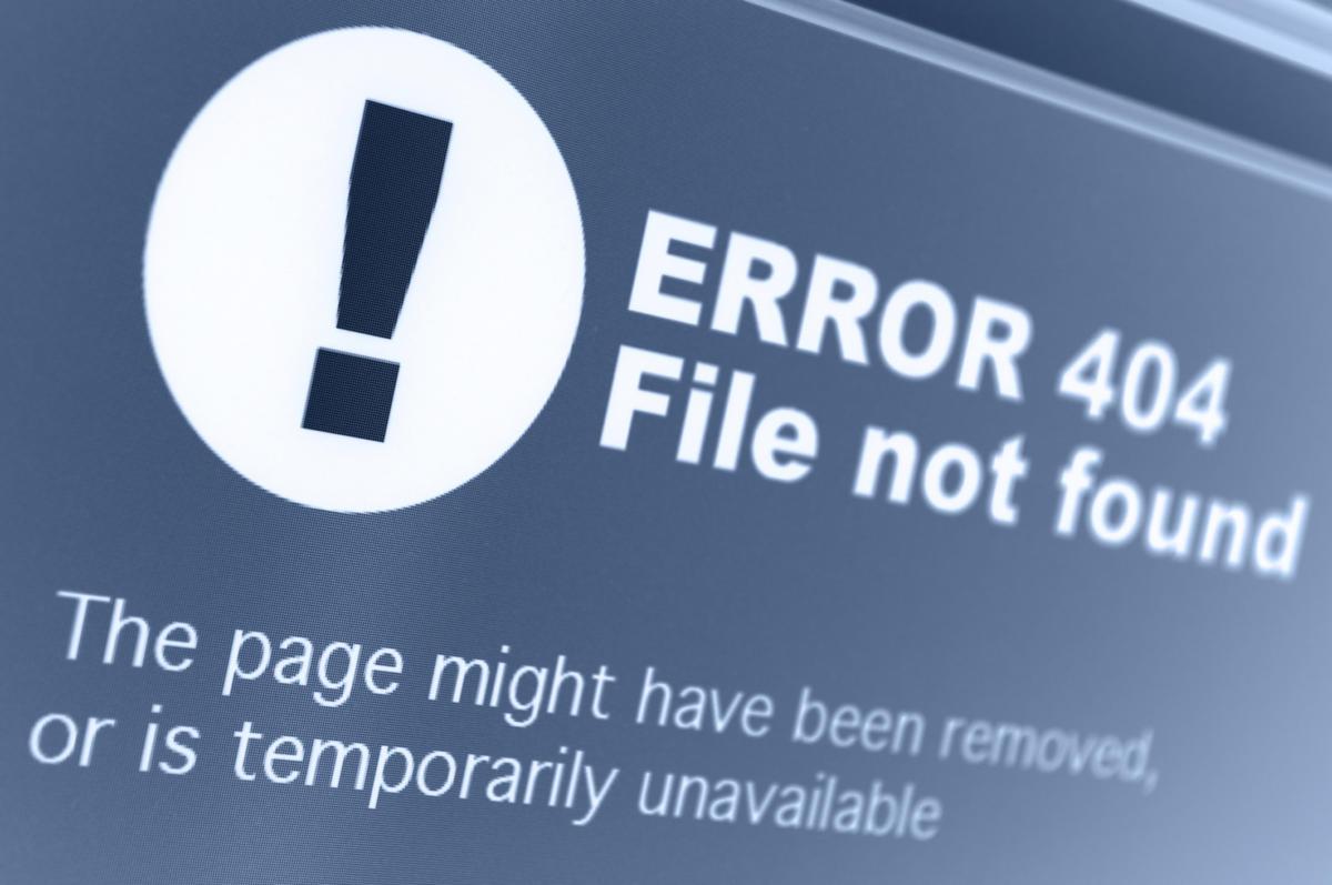 Por qué solucionar los errores 404